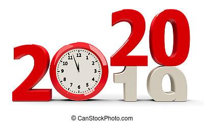 2019-2020 Clock dial