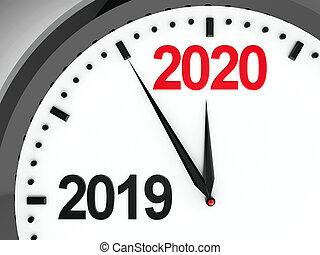 2019-2020, dial del reloj