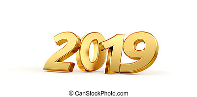 2019 bold letters isolated new year sylvester concept 3d-illustration