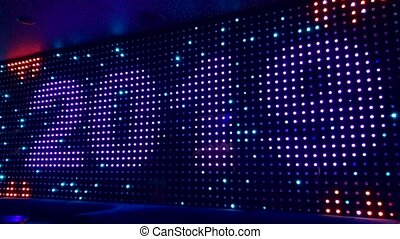 2019 digits sign at led screen in the night club