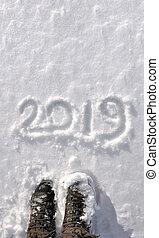 2019, escrito, em, a, neve