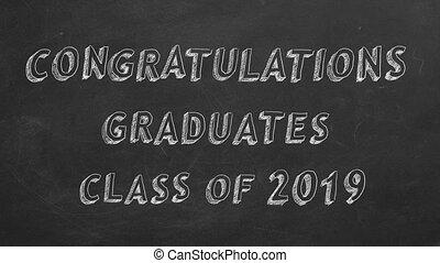 2019., graduates., félicitations, classe