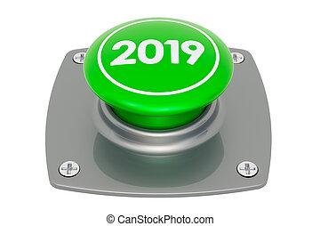 2019 Green Button, 3D rendering