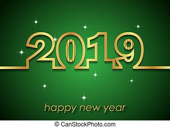 2019 Happy New Year background for your invitations, festive posters, greetings cards.