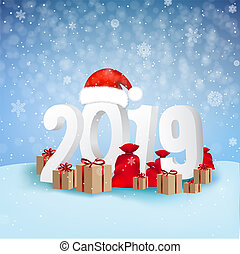 2019 Happy New Year Background Card