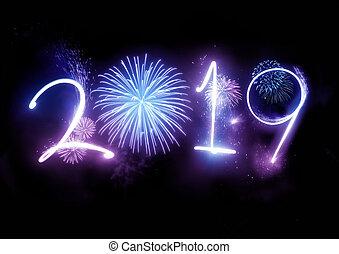 2019 Happy New Year Fireworks