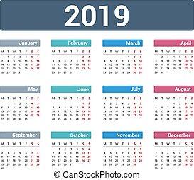 kalender 2019 woche eps10 anf nge abbildung kalender. Black Bedroom Furniture Sets. Home Design Ideas