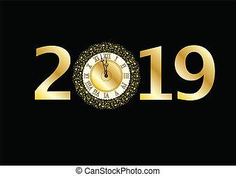 2019, klocka
