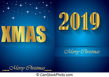 2019 Merry Christmas background.