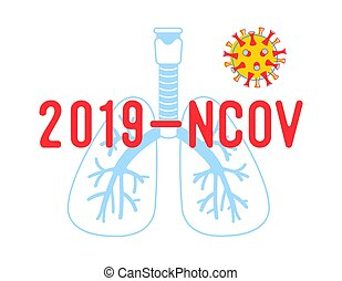 2019 Ncov Poster, Medical Banner with Human Lungs, ...