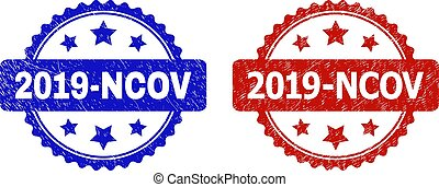 2019-NCOV Rosette Watermarks with Grunged Style
