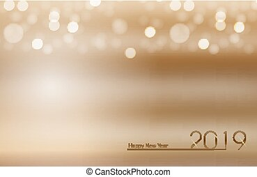 2019 New Year and Merry Christmas Background. Vector Illustration