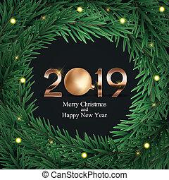 2019 New Year Background. Vector Illustration EPS10