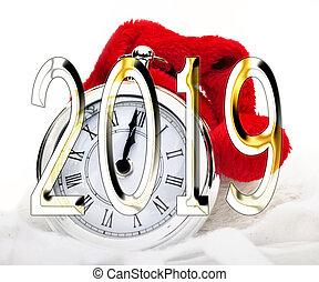 2019 new year midnight o clock