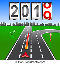 2019 New Year replacement of navigation way forward.