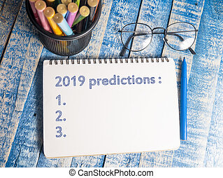 2019 Predictions, Motivational Words Quotes Concept - 2019...