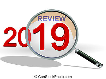 2019 review analysis zoom on details - 3d rendering - 2019 ...