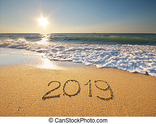 2019, shore., morze, rok