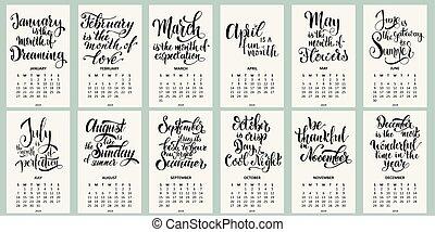 2019., sunday., vecka, kalender, startar
