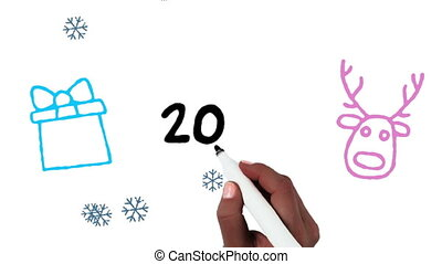 2019 written on white background - Animation of 2019 being ...