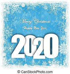 2020, クリスマス, 秋, 新しい, 背景, 年, 雪