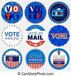 2020, 大統領である, キャンペーン, バッジ, 選挙