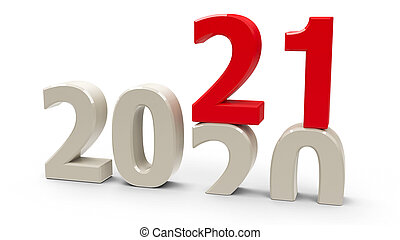 2020-2021 change represents the new year 2021, three-...