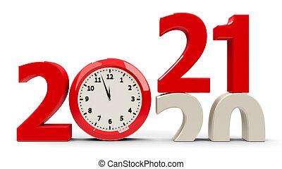 2020-2021 Clock dial
