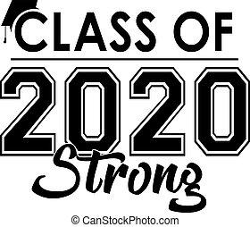 2020, bandera, fuerte