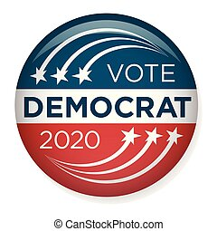 2020 Campaign Election Pin Button or Badge w Patriotic Stars and Stripes Theme