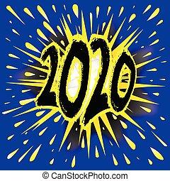 2020 Cartoon Explosion - Abstract cartoon bubble explosion...
