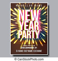 2020 Christmas Party Flyer Poster Vector. Happy New Year. Celebration Template. Winter Background. Design Illustration
