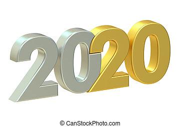 2020 concept, 3D rendering