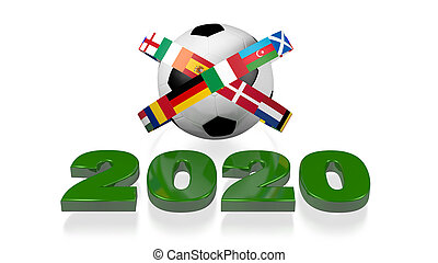 2020 design and Big Football European Flags