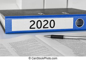 2020, dossier, étiquette