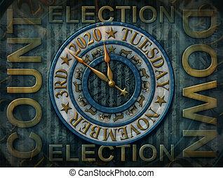 2020 Election Countdown Clock - 3D Illustration