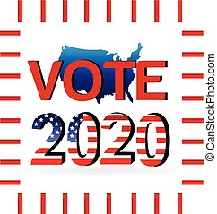 2020 Election vote - USA map