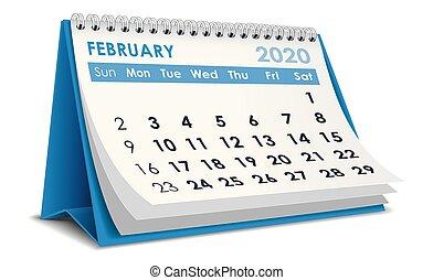 2020, febbraio, calendario