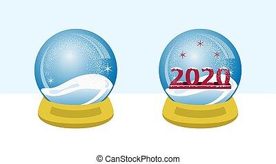 2020, globo, neve