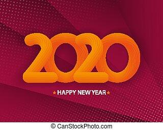 2020 Happy New Year background.