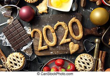 2020 happy new year baking