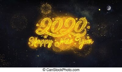 2020 Happy New Year Text Wishes Reveal From Firework...