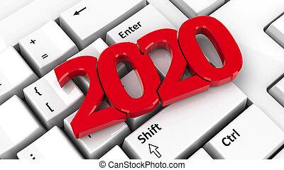2020 icon on keyboard