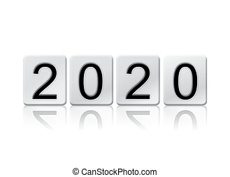 2020 Isolated Tiled Letters Concept and Theme