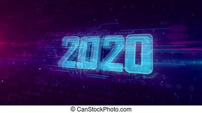 2020 modern hologram - 2020 Year of innovation hologram...