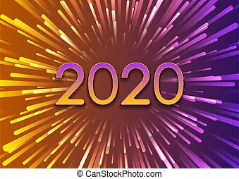 2020 New Year abstract colorful background