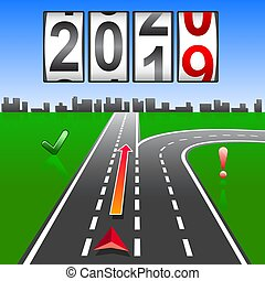2020 New Year replacement of navigation way forward.