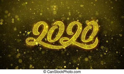 2020 New Year Wishes Greetings card, Invitation, Celebration...
