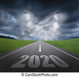 2020, nuovo, concetto, anno
