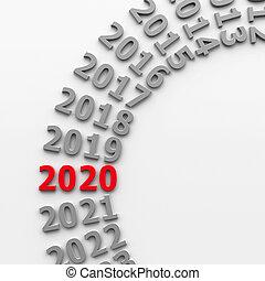 2020, passé, cercle, #4